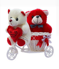 ctw red love basket cycle valentine gift set with teddy bear ctw red love basket cycle valentine gift set with teddy bear at best in india on