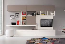 contemporary tv wall unit wooden lacquered wood mito q10998