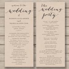 Wedding Programs Template Free Wedding Program Template Printable Wedding Program Diy