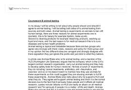 coursework b animal testing gcse english marked by teachers com document image preview