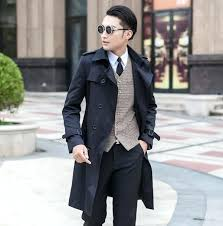 trench coat men designer teenage slim y long trench coat men trench coat classic business outerwear trench coat men short trench parka mens