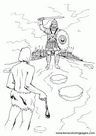 David And Goliath Coloring Book Coloring Home