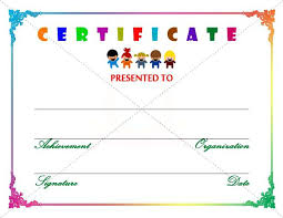 Kids Award Certificate Free Printable Certificate Templates For Kids Photo High Definition