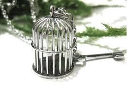 stainless steel birdcage pendant jewelry bc 001