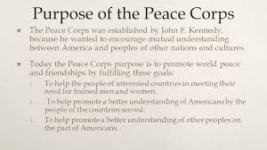 Image result for The purpose of the Peace Corps