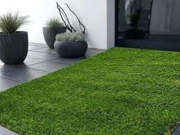artificial grass carpet indoor outdoor 5 x 8 area rug in green
