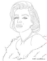Marylin monroe coloring pages - Hellokids.com