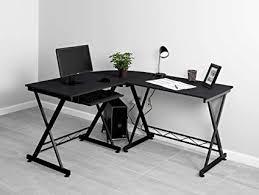 Black desks for home office Drawers Image Unavailable Amazoncom Amazoncom Fineboard Fbld05bkbk Home Office Lshaped Corner Desk
