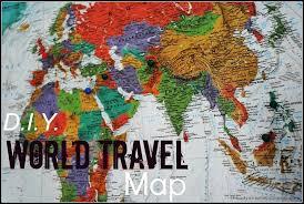World Travel Map Pin Board Stanislas Club