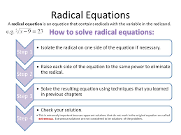 how to solve radical equations