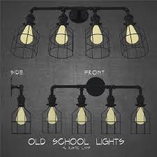 Old School Rustic Industrial 4 Lights Architectural Scene Light 3d Model