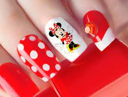 Buy Mickey Mouse & Minnie Mouse Waterslide Nail Art Decals - Salon Quality  Online in Turkey. B07Q3WMHHT
