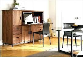 kansas oak hidden home office. Hidden Office Desk Computer Medium Size Of Kansas Oak Home