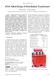 Three Phase Power Transformer Design Pdf Fem Aided Design Of Distribution Transformer
