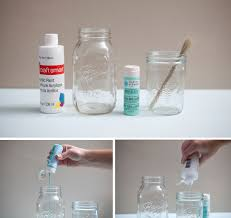 Ways To Decorate Glass Jars DIY Painted Mason Jars Tutorial Jar Glass And Tutorials 4