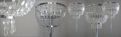 crystal chandelier centrepiece hire centrepieces