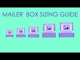 Box Size Chart Treemarc Mailer Box Size Guide