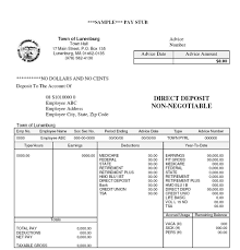 Template Simple Pay Stub Template Document Sample V M D Com Blank