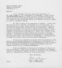 John Nash Recommendation Letter Math