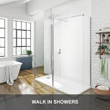 Walk in showers Wet room glass screens