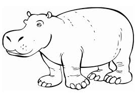 Coloring Page Hippo Cute Cartoon Hippo Coloring Page Free Printable