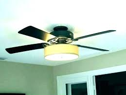 ceiling fan with drum shade diy light kit adding a to from thrifty decor