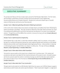 Executive Summary Sample For Proposal Business Proposal Executive Summary Template