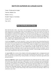 essay about self reflection essay about self reflection writing composition 1410 words
