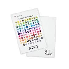 Tombow Dual Brush Pen Blank Color Chart Tombow Blending Kit
