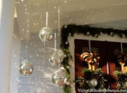 Mini Disco Ball Decorations Our Victorian front porch decorated for Christmas a DIY bow 32