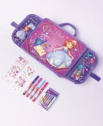 travel lap desk kids art set sofia the 1st disney for car home or airplane folds