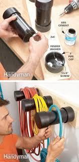 28-Brilliant-Garage-Organization-Ideas-Plastic-pipe-cord-