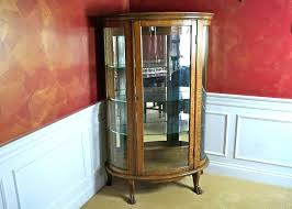 cool oak curio cabinets with curved glass oak curio cabinets with curved glass antique oak curved