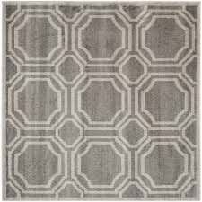 safavieh amherst mosaic gray light gray square indoor outdoor moroccan area rug common