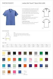Port Authority Color Chart Port Authority Ladies Silk Touch Polo Strong Blue At