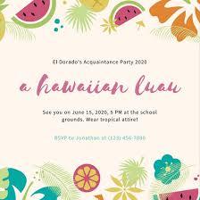 Customize 4 014 Hawaiian Party Invitation Templates Online Canva