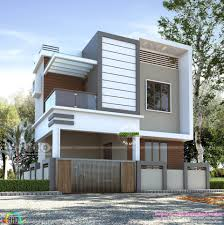 Building Elevation Designs For Double Floor 1230 Square Feet 3 Bedroom Small Double Floor Home Kerala