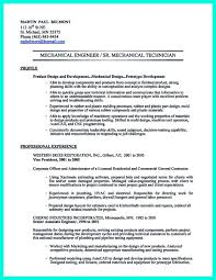 Mechanical Engineer Midlevel Sample Resume For Monster Com