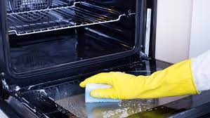 oven door and clean the glass