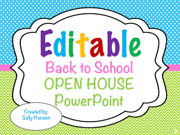 Open House Powerpoint Editable Back To School Open House Powerpoint The Best Of