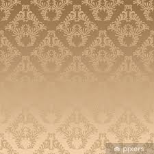 Gold Damask Background Wall Mural Vinyl Gold Damask Background