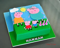 Glorious Peppa Pig Cake Ideas And Pink And Gold Peppa Pig Birthday
