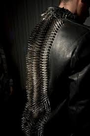 black leather jacket with spikes