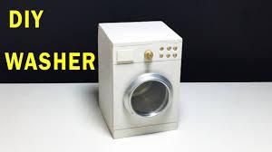 Miniature Washing Machine How To Make Mini Washer Diy Washing Machine Youtube