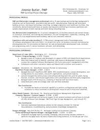 Project Manager Resume Examples Resume Sample Prepossessing Resume
