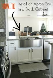 apron sink installation. Learn How To Modify Cabinet Accomidate An Apron Front Sink For Installation