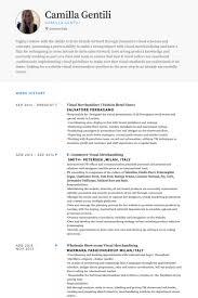 Gallery Of Professional Visual Merchandiser Resume Visual