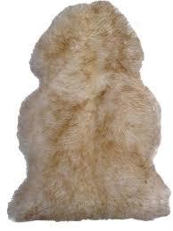 westco wolf tip sheepskin rug