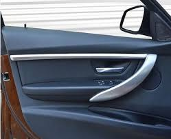 abs chrome car door cover decoration trim strips car interior door molding trim for bmw 3 series f30 2018 2018 car styling in interior mouldings from