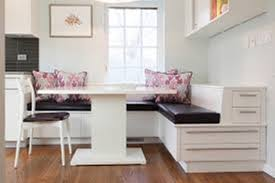 Image of: Corner Bench Seating with Table